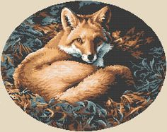 The Fox free cross stitch pattern