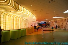 Colorful lobby at Disney's Art of Animation Resort.   - For more resort photos & information, see: http://www.buildabettermousetrip.com/disneys-art-of-animation  #artofanimationresort #DisneyWorld