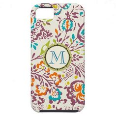 Monogram Vintage Floral Pattern iphone iPhone 5 Case