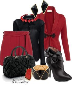 """""""Red & Black Contest Set 3"""" by donnamae-harkness ❤ liked on Polyvore"""