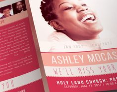 Check out Smile Funeral Program Template by SeraphimChris on Creative Market