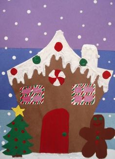 This is a reposting of a Gingerbread House project Grade 7 studentscreated last December. Theymade these out of construction paper, glitt...