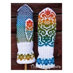 Ravelry: Karin Kurbits Mittens pattern by Johanne Landin Knitted Mittens Pattern, Crochet Mittens, Knitted Gloves, Knit Crochet, Knitting Charts, Knitting Socks, Hand Knitting, Knitting Patterns, Knitting Needles