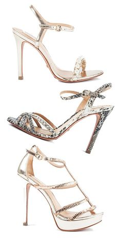 Schutz Sandals Snake & Pearls Sample Sale   Shoes