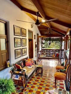 A Magnificient Heritage Home in the Heart Of Mumbai ~ The Keybunch Decor Blog New Palace, Tile Saw, Beautiful Villas, Spanish Colonial, Decorating Blogs, Room Themes, Incredible India, Mumbai, Patio