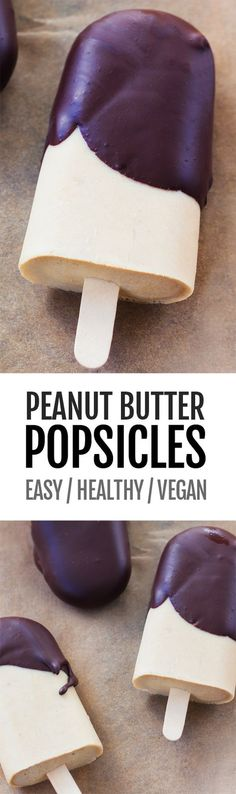 Easy Peanut Butter Popsicles (NO Sugar, Vegan Recipe)