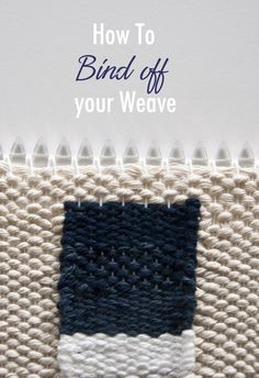 A little bit ago, I received a question from a reader who had woven all the way down to the bottom of her loom. Her weave was finished and ready to take off the loom, but now she realized she didn&… Weaving Loom Diy, Weaving Art, Tapestry Weaving, Weaving Textiles, Weaving Patterns, Stitch Patterns, Knitting Patterns, Weaving Wall Hanging, Wall Hangings