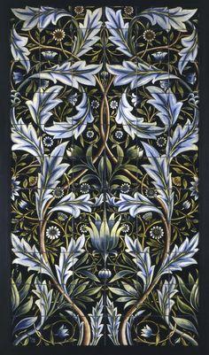 Fine Art Tapestries 'Panel of Tiles' Large Wall Tapestry (Blended color waves), Multi (Cotton) William Morris, Unicorn Tapestries, Art Nouveau Tiles, Unique Tile, Tile Panels, Handmade Tiles, Arts And Crafts Movement, Victoria And Albert Museum, Art Deco Design