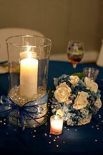 head table centerpieces-diy wedding