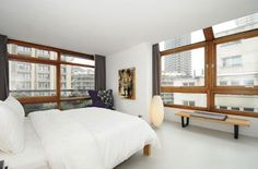 On the market: Two-bedroom apartment in Chamberlin, Powell & Bon-designed Ben Jonson House on the Grade II-listed Barbican Estate, London - WowHaus Flat Interior, Interior Design, Ben Jonson, Kitchen Dining Living, Barbican, Dream Studio, Japanese House, Mid Century House, Two Bedroom