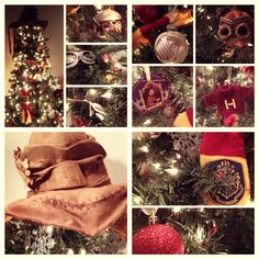 "My Harry Potter Tree - Christmas 2012 | Including handmade ""flying keys"" and book ornaments."