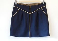 Chataigne/Chestnut shorts (Deer and Doe) to a skirt tutorial (in French) - this version with front zip