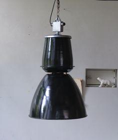 eel:イール ::フランス 大型照明 エナメルランプ holophane lamp lampe ランプ エナメルランプ ビンテージ インダストリアルランプ アンティーク家具、アンティーク照明の通販