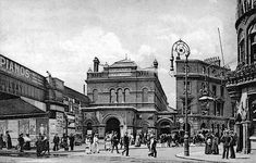 Hackney Station looking east in 1912 Copyright photo from John Alsop collection Victorian London, Vintage London, Old London, London Pictures, Old Pictures, Old Photos, London History, British History, North London