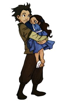 """I got her this time, Dad. C'mon Kya, you're okay..."" Avatar The Legend of Korra; Bumi & Kya"