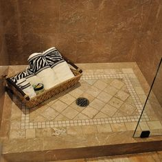 Tiled Shower Floor Design Ideas Pictures Remodel And Decor