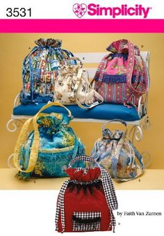 Bags in Three Sizes Sewing Pattern 3531 Simplicity Handbag Patterns, Bag Patterns To Sew, Simplicity Sewing Patterns, Sew Pattern, Craft Patterns, Handbags On Sale, Purses And Handbags, Sewing Crafts, Sewing Projects