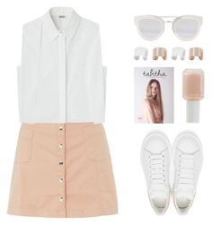"""Innocence"" by felytery ❤ liked on Polyvore featuring Innocence, Alexander McQueen, Essie, Maison Margiela and Christian Dior"