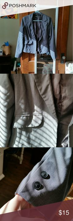 Gray blazer Perfect condition, hardly worn. Excellent for work or that interview! My Michelle Jackets & Coats Blazers