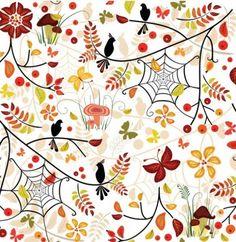 patrón de otoño ilustrador