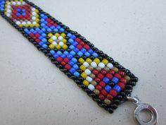 bracelet brésilien maille carrée motif par adessojewelry sur Etsy