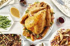 Maple Bacon Glazed Turkey with Gravy Recipe Turkey Recipes, Chicken Recipes, Campbells Recipes, Fresh Turkey, Turkey Glaze, Turkey Chicken, Maple Bacon, Roasted Turkey, Cooking