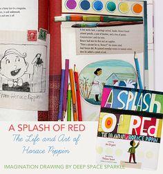 Horace Pippin Imagination Drawings from Deep Space Sparkle -watercolour Art Books For Kids, Art For Kids, Horace Pippin, Imagination Drawing, Deep Space Sparkle, 5th Grade Art, Art Curriculum, Middle School Art, Art Classroom