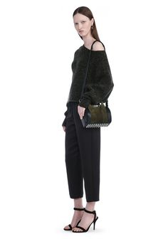 ALEXANDER WANG MINI ROCKIE IN NUBUCK GRASS AND SOFT PEBBLED NEPTUNE  Shoulder…