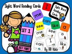 Sight Word Reading Cards!Here is the perfect way to learn Sight Words/ High Frequency Words.Read the word and then read 6 sentences using the word. Perfect for beginning readers!Just PRINT and they are READY TO USE. You can put them in a station, box, baggie or on a ring!