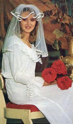 Russian bride. 1981. #bride #dress #Russian #weddings