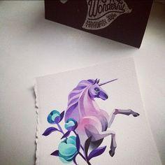 #unicorn #watercolor #sashaunisex