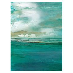 Add gallery-worthy appeal to your walls with this artful canvas print, showcasing a seascape motif.  Product: Canvas print
