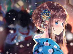October 23 2019 at Kawaii Anime Girl, Anime Girl Cute, Anime Art Girl, Manga Girl, Kawaii Art, Anime Girls, Anime Kimono, Anime Eyes, Anime Manga