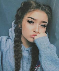Red Inward Braids for Rocking Queens - 20 Under Braids Ideas to Disclose Your Natural Beauty - The Trending Hairstyle Pretty Hairstyles, Braided Hairstyles, Hairstyles Tumblr, Lazy Day Hairstyles, Night Hairstyles, Instagram Hairstyles, Daily Hairstyles, Hair Inspo, Hair Inspiration