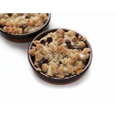 Crumble poire-choco-gingembre | Diabète Québec Calories, Cereal, Oatmeal, Breakfast, Desserts, Food, Whole Wheat Flour, Diabetic Recipes, The Oatmeal