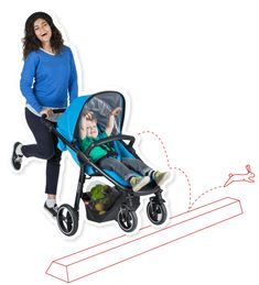 phil&teds smart stroller with kerb pop to boot! Up & over obstacles with no sweat - check out all the features on the phil&teds website!
