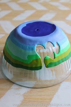 DIY Yarn Bowl - SO clever and so easy. I will definitely make one. Or ten