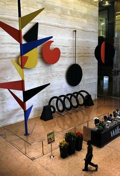 """Alexander Calder's """"The Universe"""" can be found in the Willis (Sears)Tower atrium."""