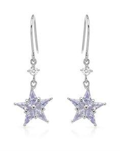 Ørerdobber i 925 Sterling sølv. Dekorert med multifargede Cubic Zirkonia, formet som en stjerne. Bredde: 13 mm. Total lengde: 35 mm. Total vekt: 2,5g. #smykker #øredobber #sølvsmykker #stjerne #sølv #zirkonia #zendeisgn Drop Earrings, Design, Jewelry, Jewlery, Jewerly, Schmuck, Drop Earring, Jewels