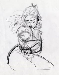 Mother's love by Glen Keane. ★ || Art of Walt Disney Animation Studios © - Website | (www.disneyanimation.com) • Please support the artists and studios featured here by buying their artworks in the official online stores (www.disneystore.com) • Find more artists at www.facebook.com/CharacterDesignReferences and www.pinterest.com/characterdesigh || ★