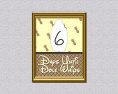 Dole Whip Disney Trip Countdown Calendar by AbilityPoweredDesign