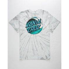 Wave Santa Cruz logo graphic screened at left chest with larger version screened on back. Kids Shirts, Cool Shirts, Men's Shirts, Cute Lazy Outfits, Cool Outfits, Santa Cruz Shirt, Dope Shirt, Stylish Hoodies, Aesthetic Shirts