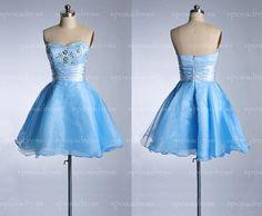 short prom dress cheap prom dress blue prom dress by sposadress, $119.00