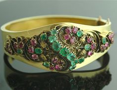 Antique Victorian Jewelry  Bracelet Gold Rubies by SITFineJewelry, $4500.00