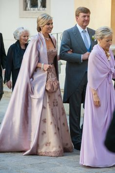 09 June 2014 7 June: Dutch Royal Family attended the wedding of Juan Zorreguieta (Queen Maxima's brother) and Andrea Wolf at palais Liechtenstein in Vienna, Austria