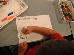 Drawing of what Australia Day means to the preschoolers