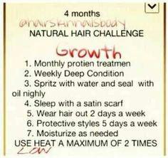 4mo natural hair challenge
