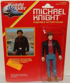 Michael Knight Action Figure - KENNER: 1982 Knight Rider