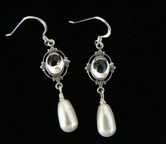 earrings idea for bridesmaids, from BridalJewelryByJudy on Etsy
