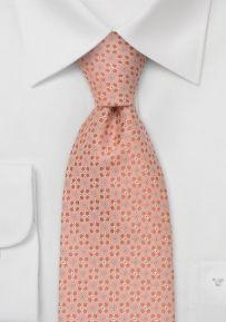 Designer necktiesPeach-pink silk tie